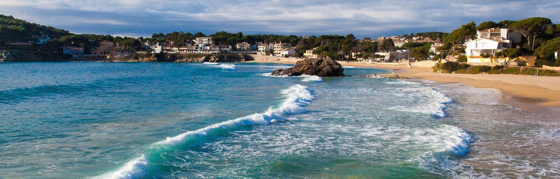 Lloret de Mar Beach, Lloret de Mar, Catalonia, Spain