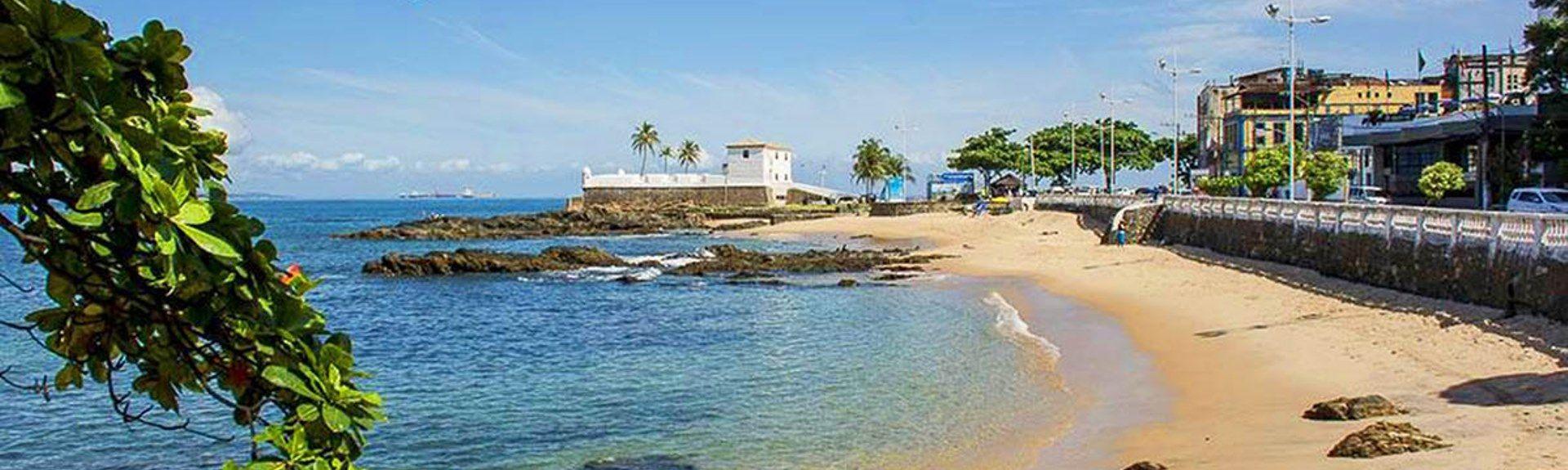 Praia do Farol da Barra, Salvador, Regio noordoost, Brazilië
