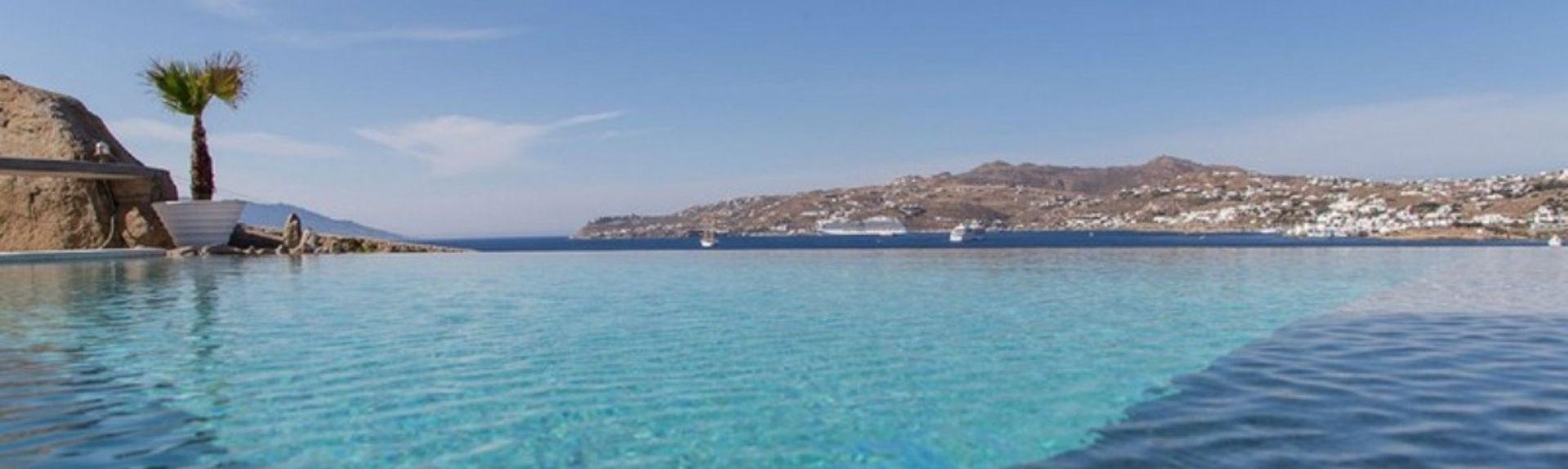 Strand von Kalo Livadi, Ägäische Inseln, Griechenland