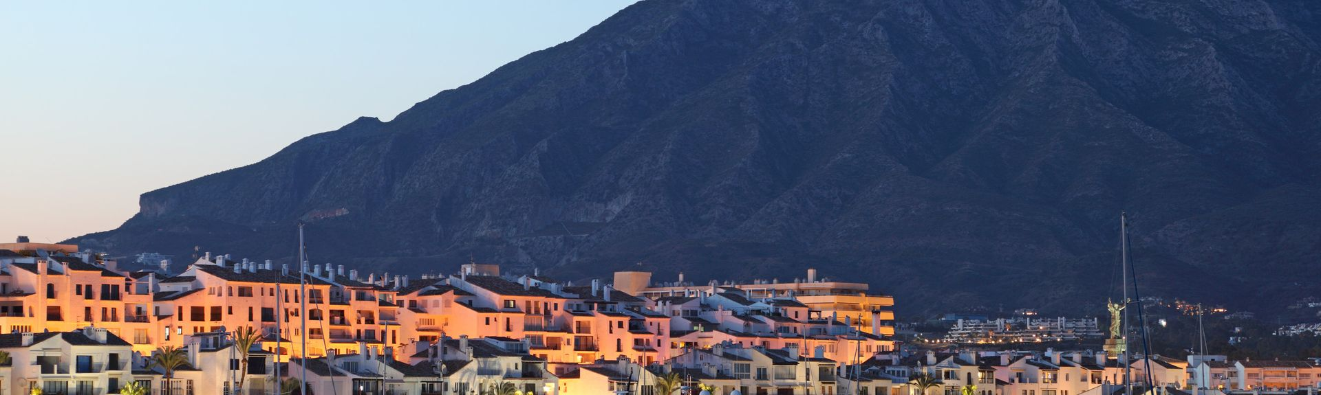 Playa Puerto Banús, Marbella, Andalusië, Spanje
