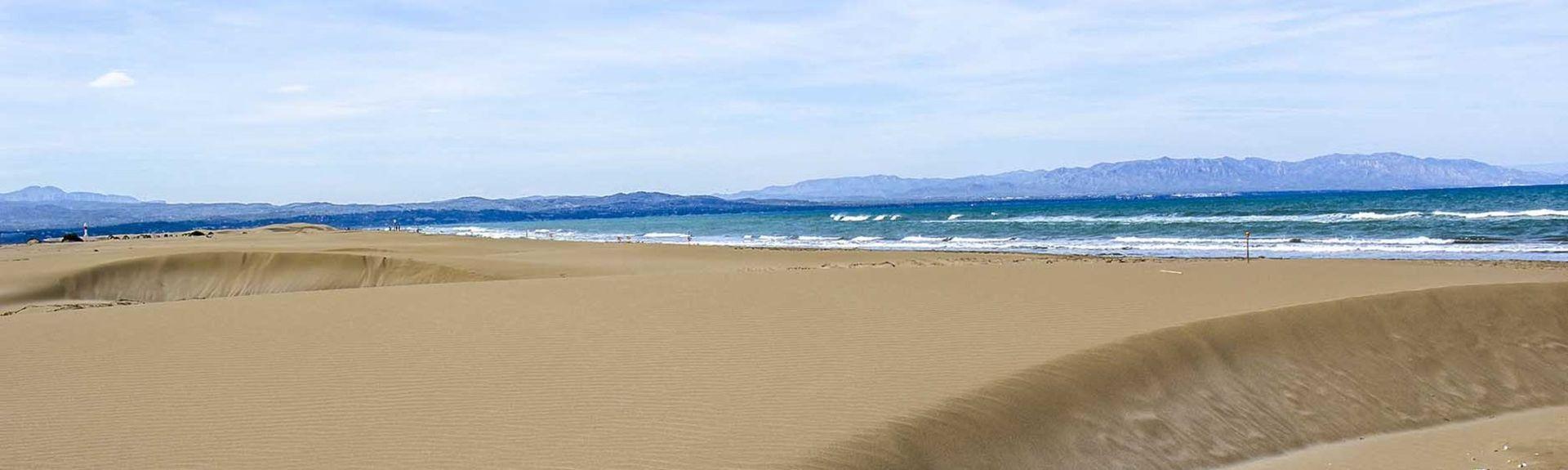 Playa de L'Ampolla, L'Ampolla, Katalonien, Spanien