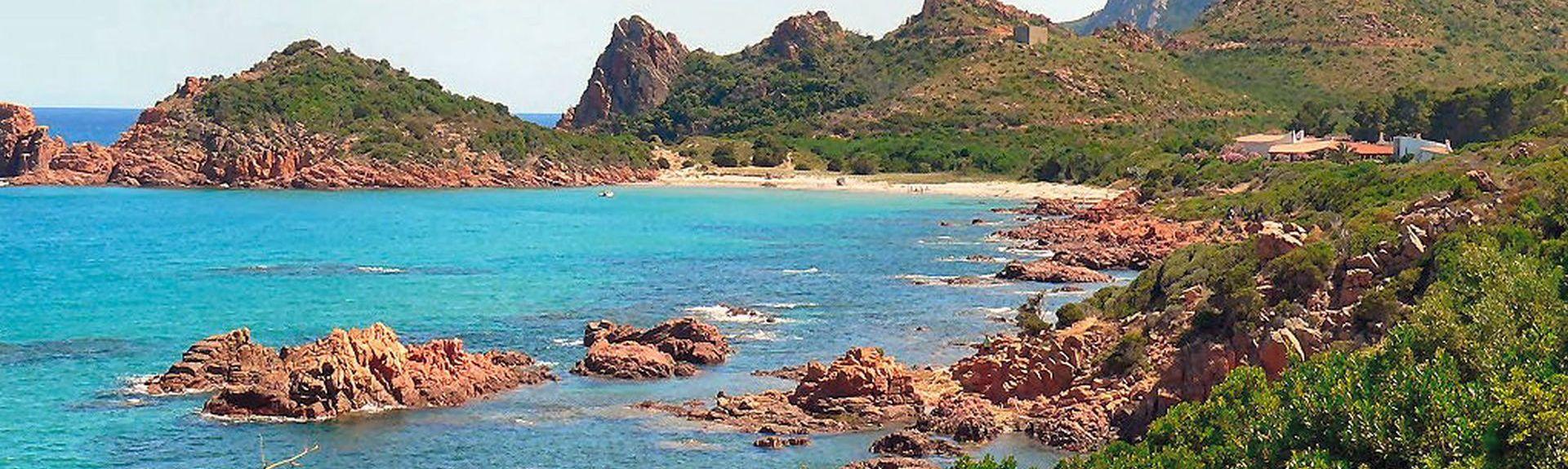 Nuraghe Arrubiu, Orroli, Sardinië, Italië