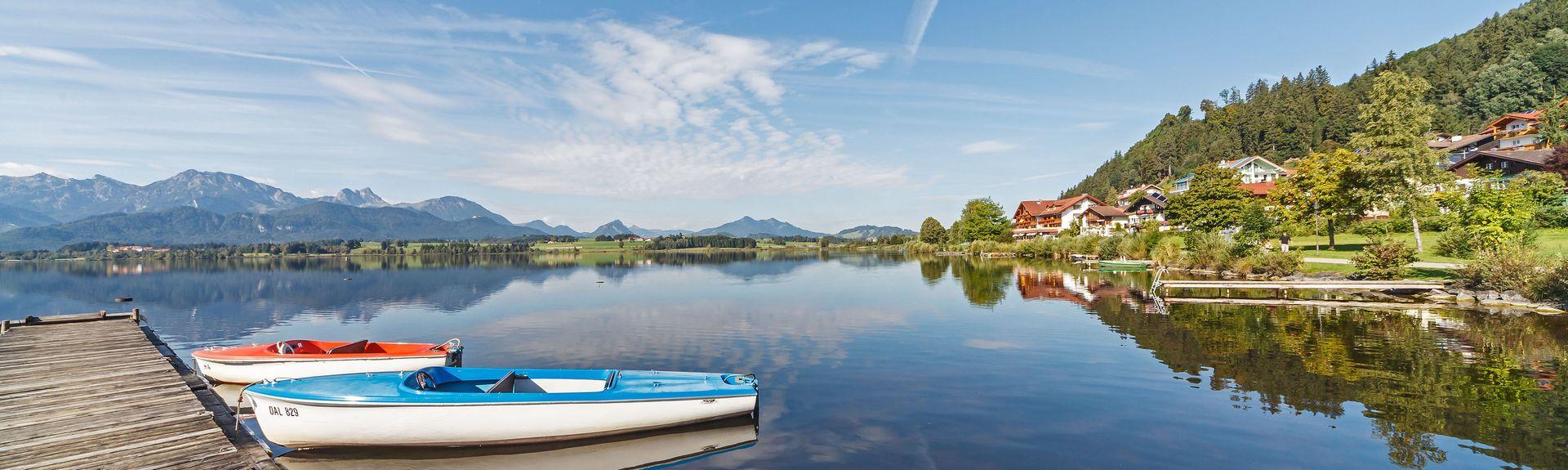 Hopfen am See, Füssen, Bayern, Deutschland