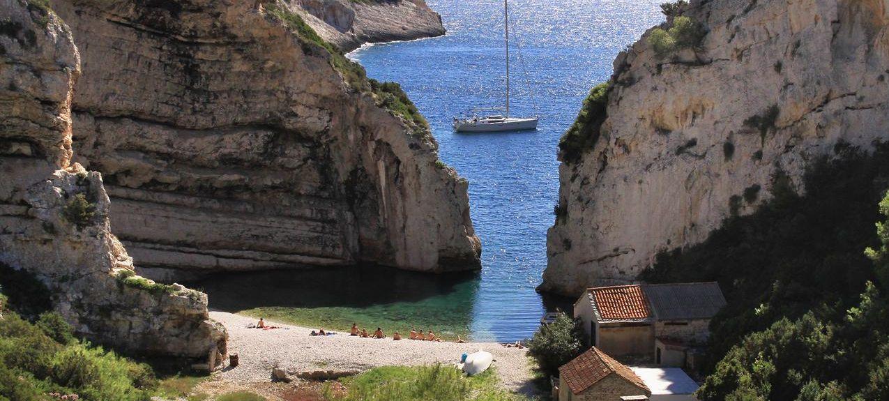Vis Island, Split-Dalmatia, Kroatia
