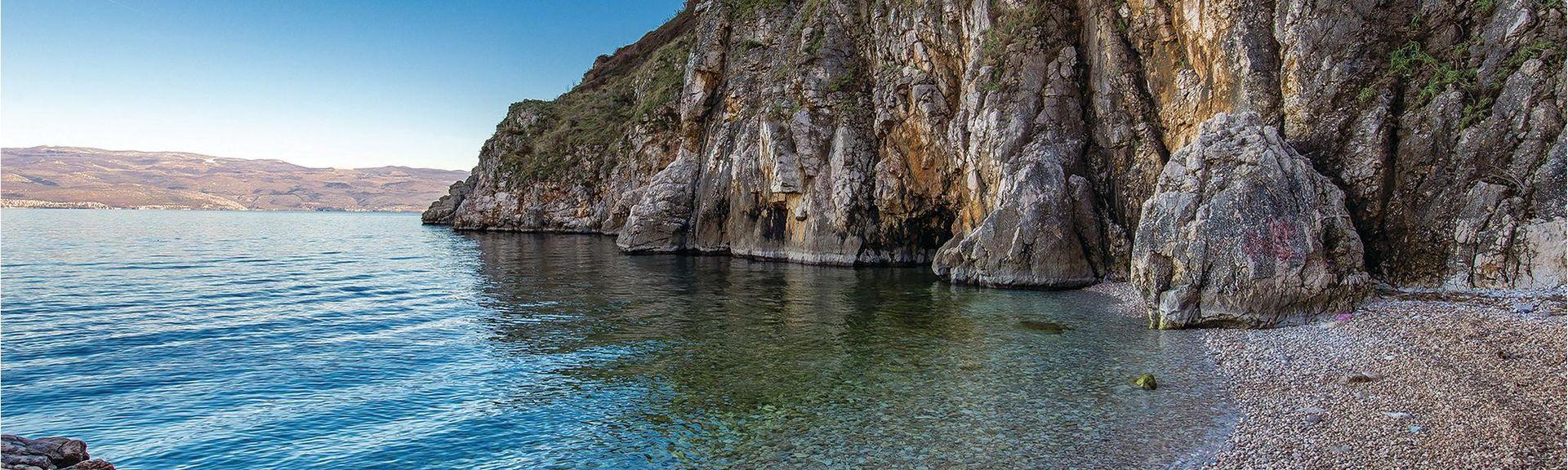 Strand van Crikvenica, Crikvenica, Primorje-Gorski Kotar, Kroatië