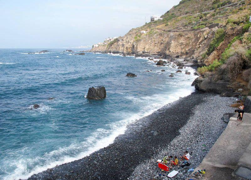 Playa de San Marcos, Icod de los Vinos, Îles Canaries, Espagne
