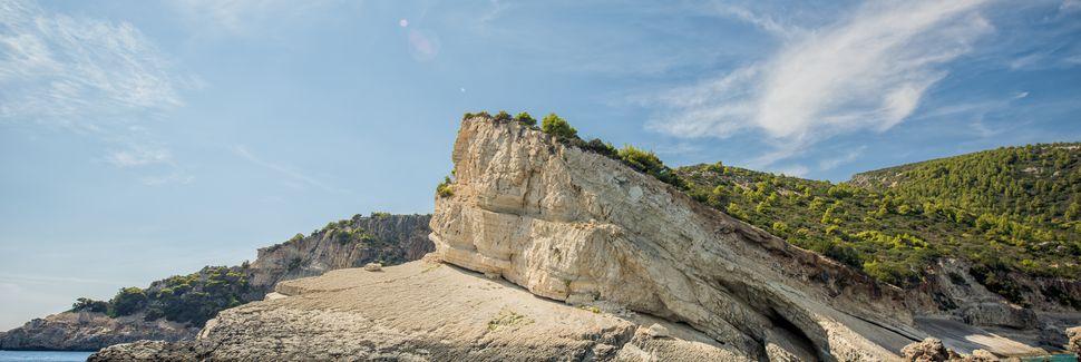 Praia de Kalamaki, Kalamaki, Peloponeso, Grécia