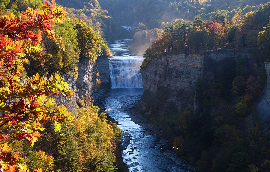 Letchworth Statspark, Mount Morris, New York, USA