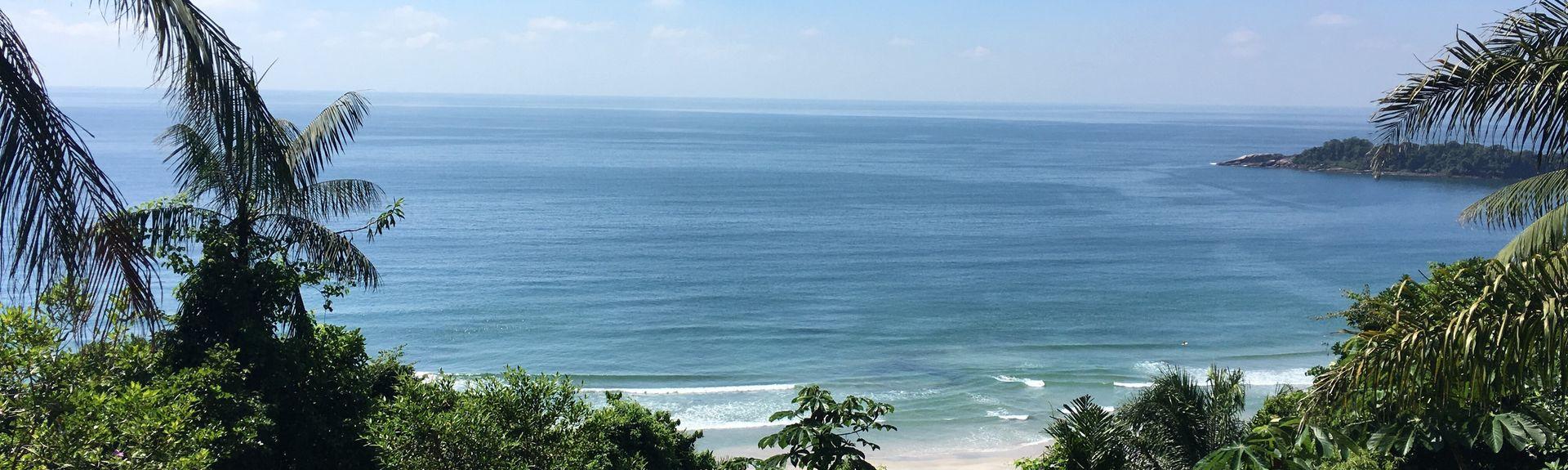 Strand von Pereque, Guaruja, Region Südosten, Brasilien