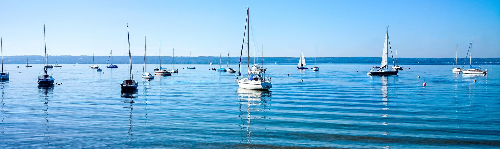 Lago di Ammersee, Ammersee, Baviera, Germania