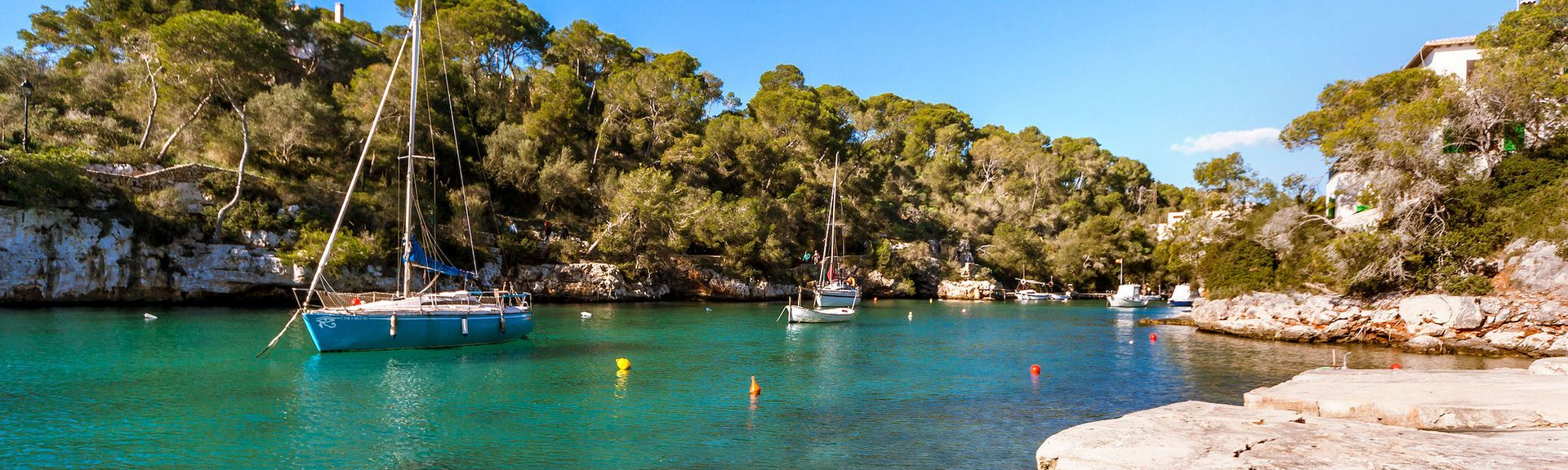 Cala Llombards Beach, Santanyi, Balearic Islands, Spain
