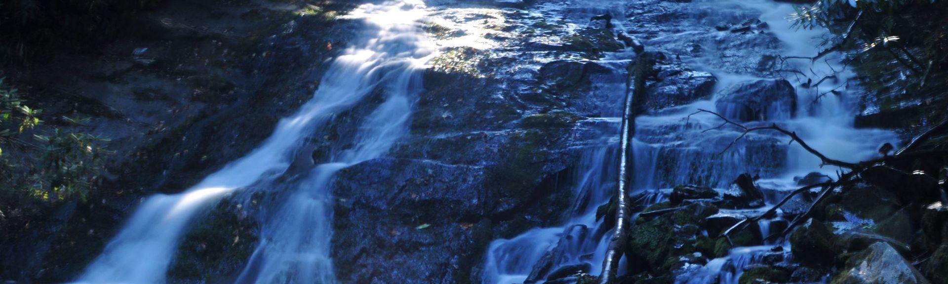 Soco Falls, Cherokee, Carolina do Norte, Estados Unidos