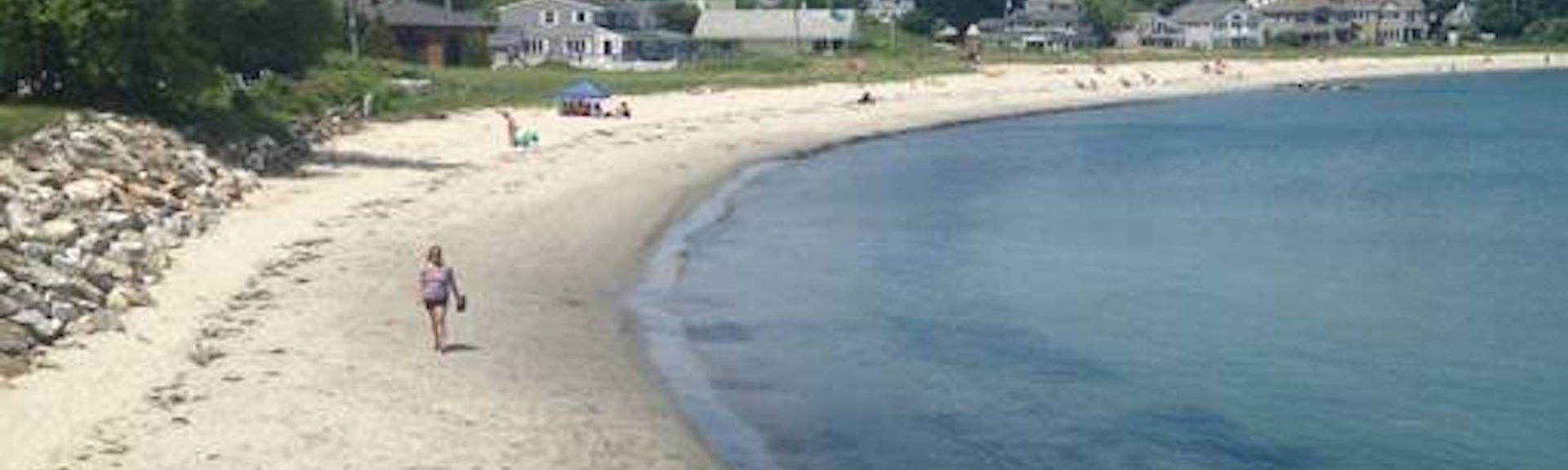 Plage de Willard Beach, South Portland, Maine, États-Unis d'Amérique