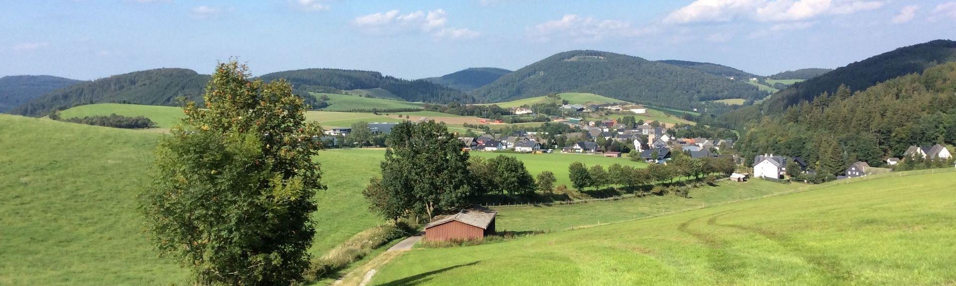 Estación de tren de Marsberg Westheim, Marsberg, Renania del Norte-Westfalia, Alemania