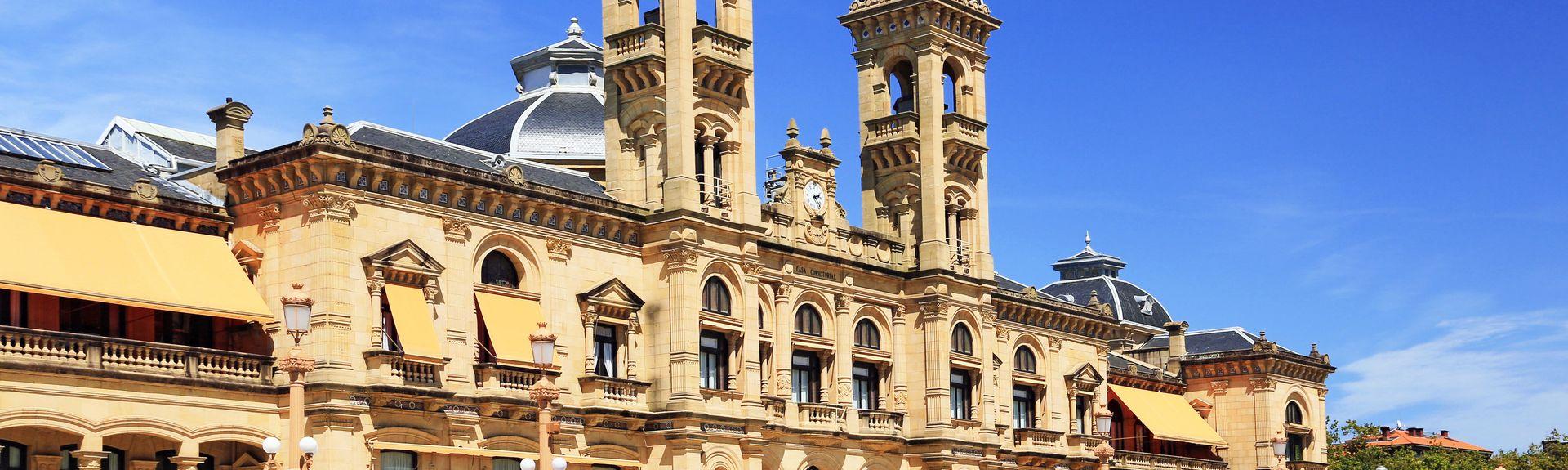 Hôtel de ville de Saint-Sébastien, Saint-Sébastien, Pays basque, Espagne