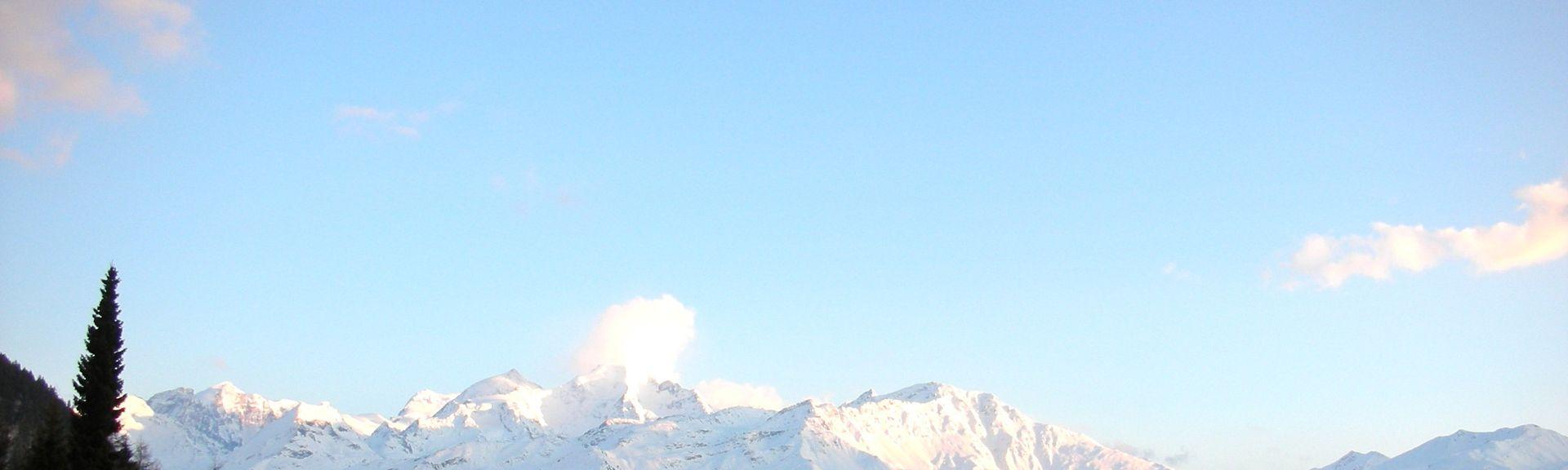 Les Rousses-Le Bate Skilift, Ayent, Valais, Schweiz