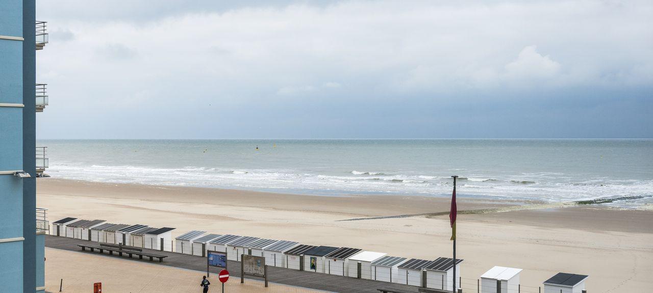 Spiaggia di De Panne, De Panne, Regione delle Fiandre, Belgio