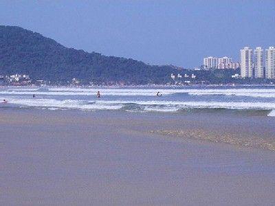 Plage des Asturias, Guarujá, État de São Paulo, Brésil