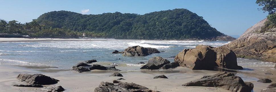 Playa de Guaratubá, Bertioga, Estado de São Paulo, Brasil