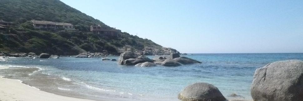 Strand von Solanas, Solanas, Sardinien, Italien