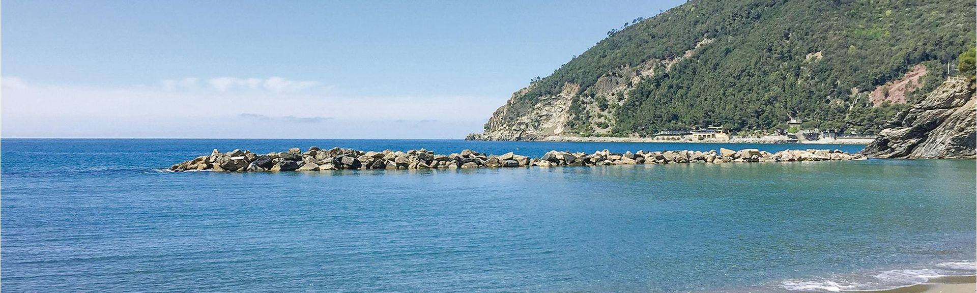Praia de Camogli, Camogli, Ligúria, Itália