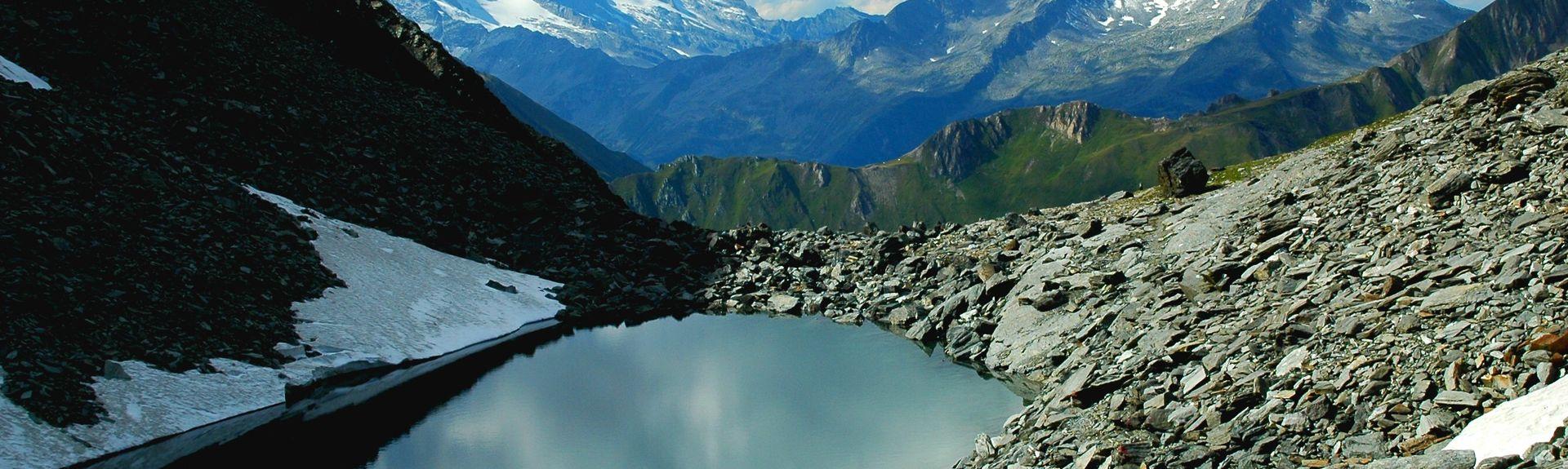 Lago di Anterselva, Rasun Anterselva, Trentino Alto Adige, Italia