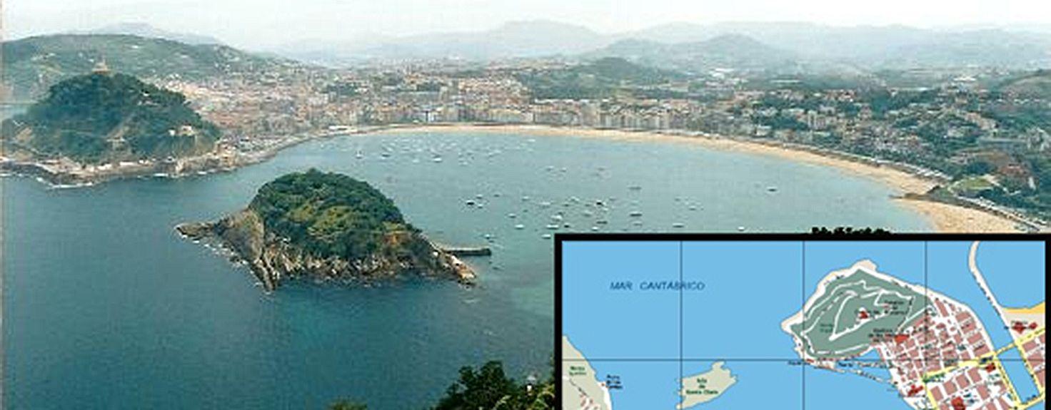 Praia de Ondarreta, San Sebastian, País Basco, Espanha