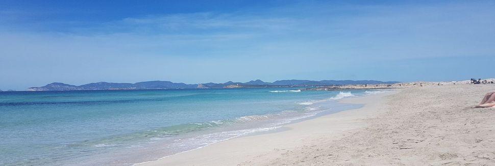 Es Pujols Beach, Formentera, Spain