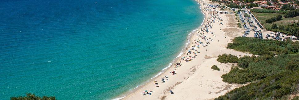 Strand Nora, Pula, Sardinien, Italien
