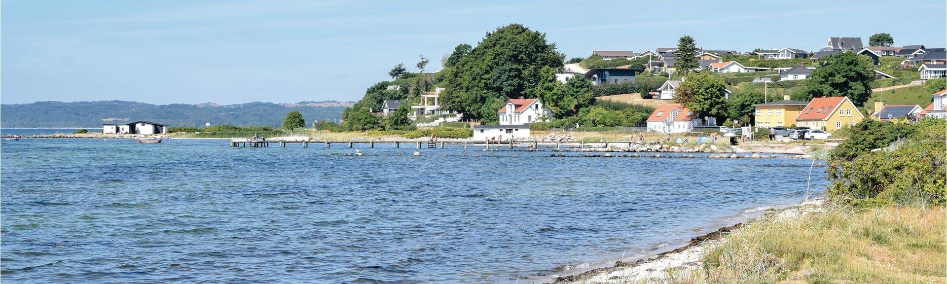 Vibæk Strand, Ebeltoft, Midtjylland (Region), Dänemark