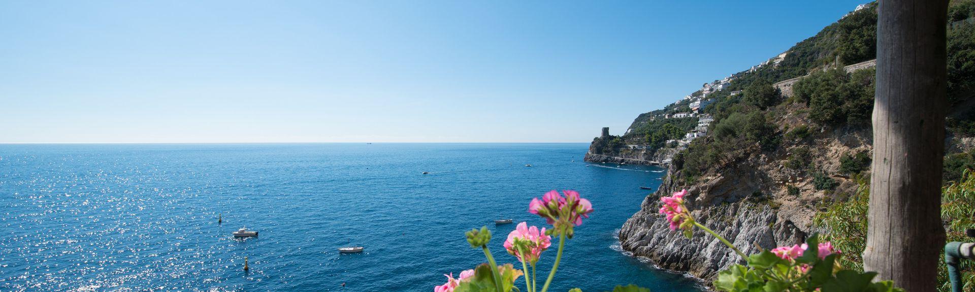 Spiaggia Grande, Positano, Campanie, Italie