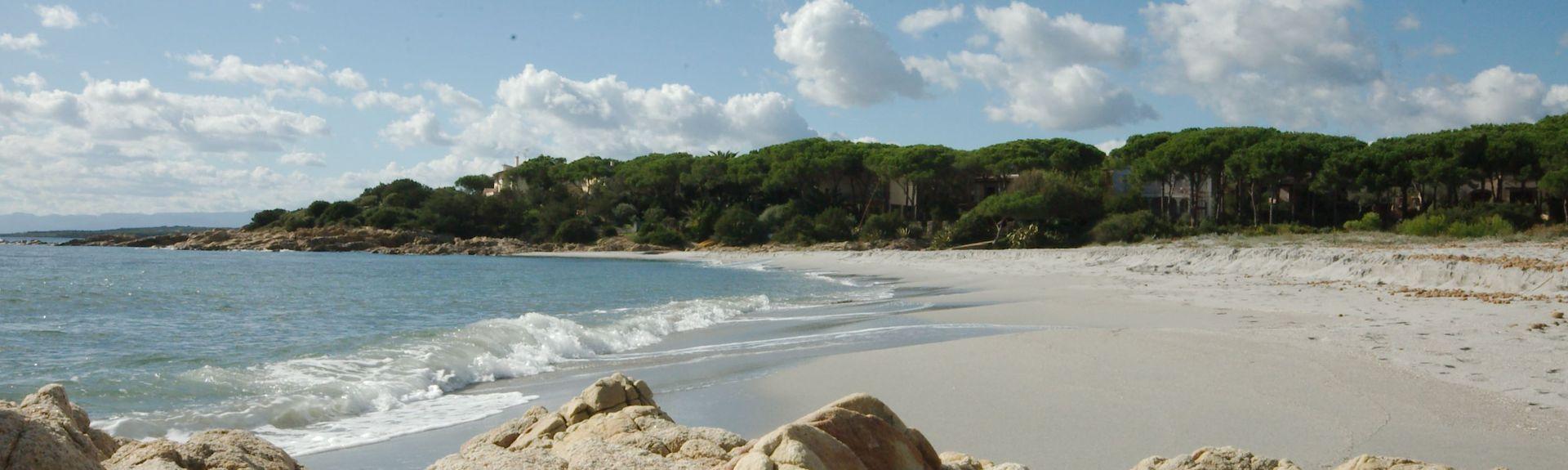 Strand von Cala Ginepro, Cala Liberotto, Sardinien, Italien