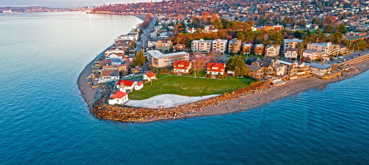 Alki Beach, Seattle, Washington, Vereinigte Staaten