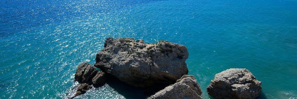 Playa las Dunas, Torrox, Andaluzia, Espanha