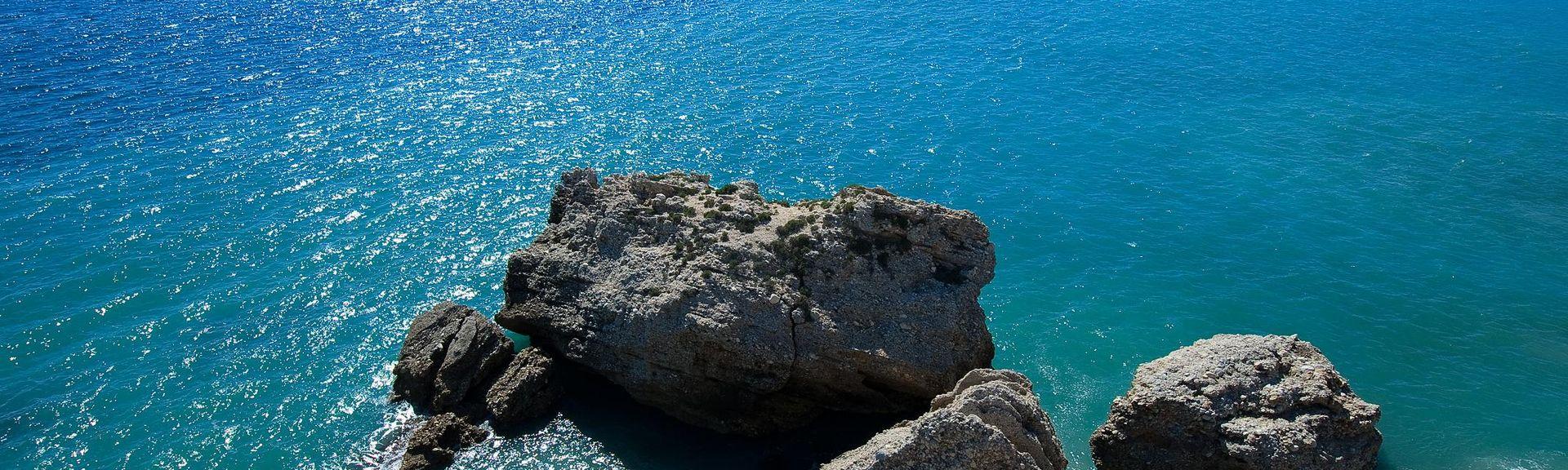 Playa del Ceniceron ranta, Torrox, Andalusia, Espanja