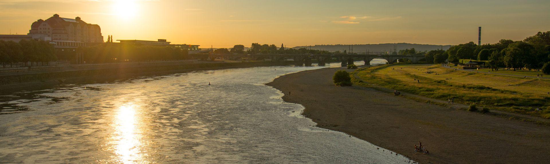 Randstad Neustadt, Dresden, Saksen, Duitsland