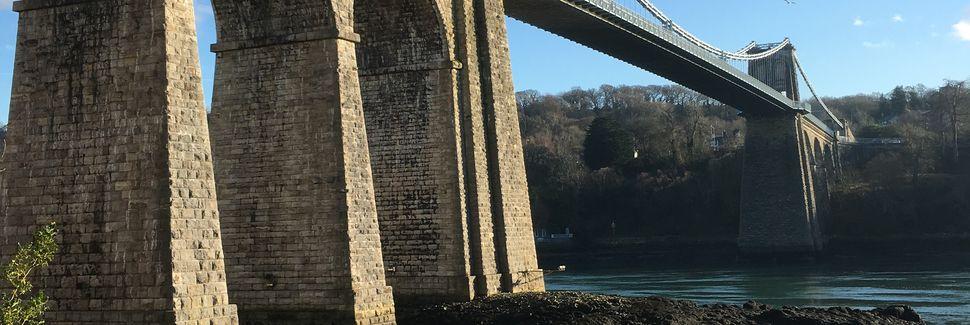 Roman Bridge Station, Wales, Storbritannia