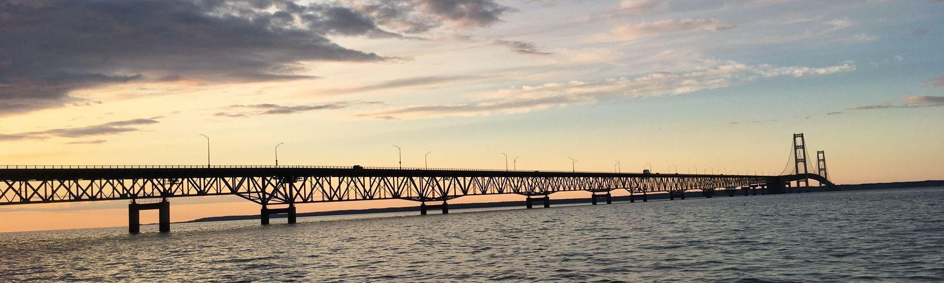 Mackinac Bridge, Mackinaw City, MI, USA
