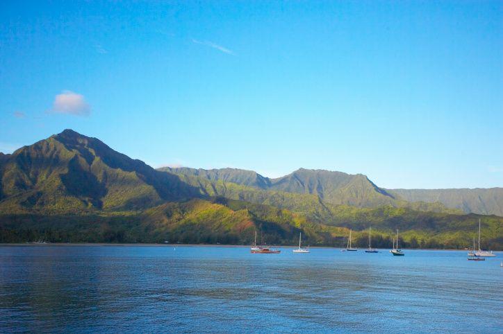 Hanalei Bay, Hanalei, Hawaï, Verenigde Staten