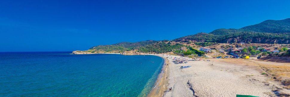 Nikitis strand, Sithonia, Thrace, Grekland