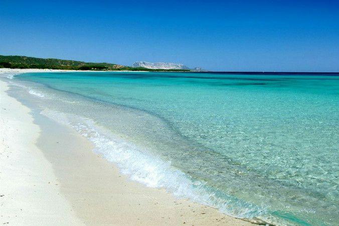 Strand Bados, Golfo Aranci, Sardinien, Italien