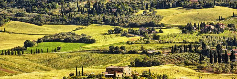 Domaine viticole Poggio Antico, Montalcino, Toscane, Italie