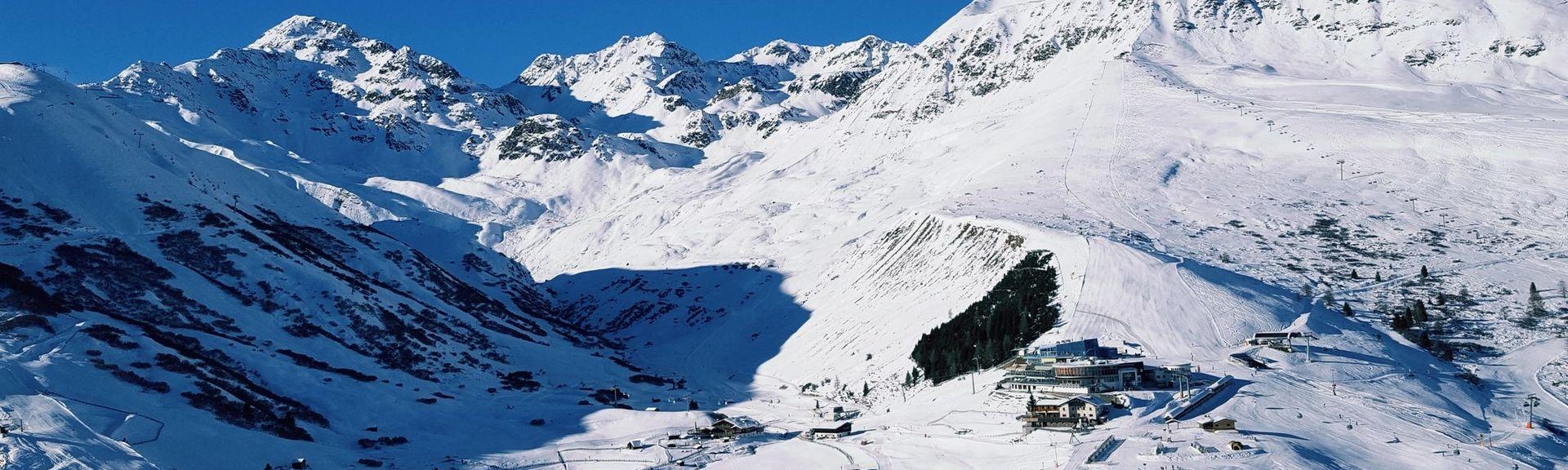 St. Christophin hiihtohissi , Sankt Anton, Tiroli, Itävalta