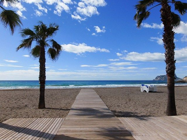 Albir-stranden, L'Alfas del Pi, Valencia, Spanien