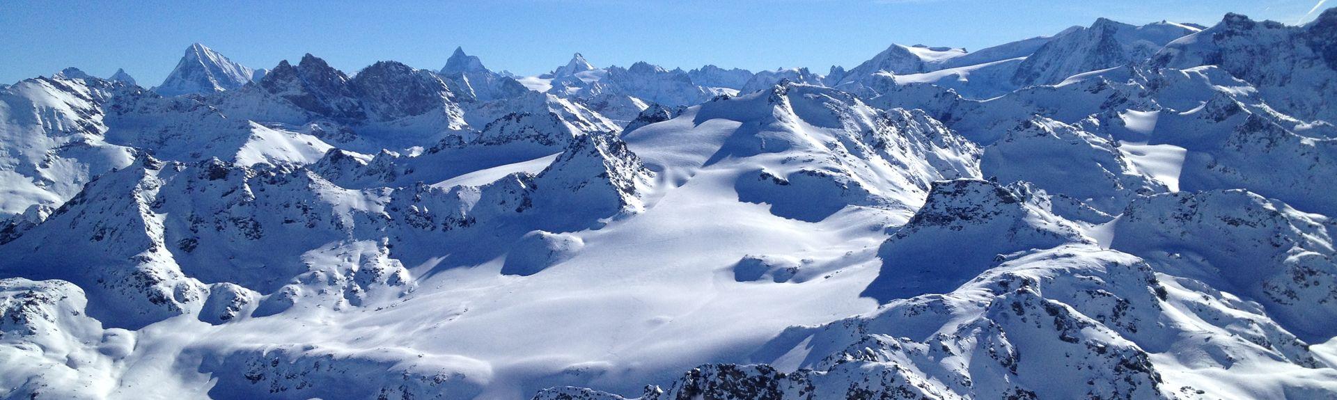 Les Crets Ski Lift, Anniviers, Valais, Switzerland