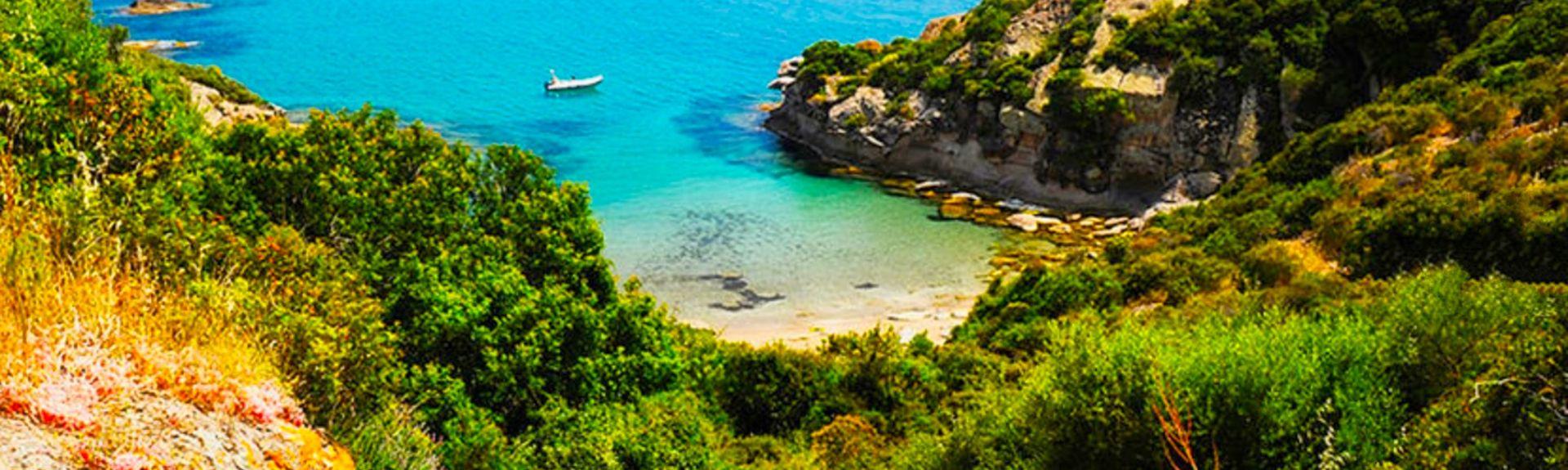 Strand San Giovanni, Alghero, Sardinien, Italien