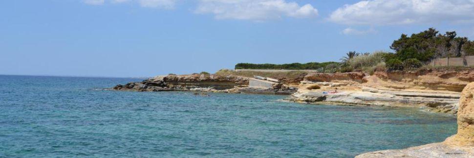 Spiaggia di Arenella, Siracusa, Sicilia, Italia