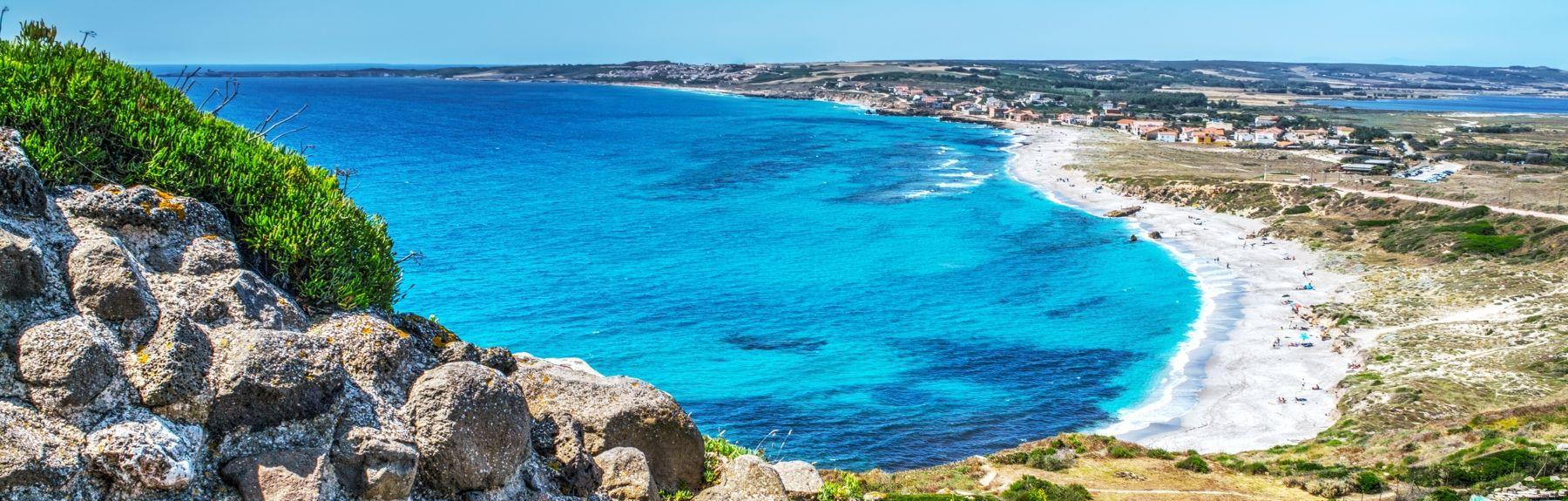 Spiaggia di Torre dei Corsari, Arbus, Sardinië, Italië