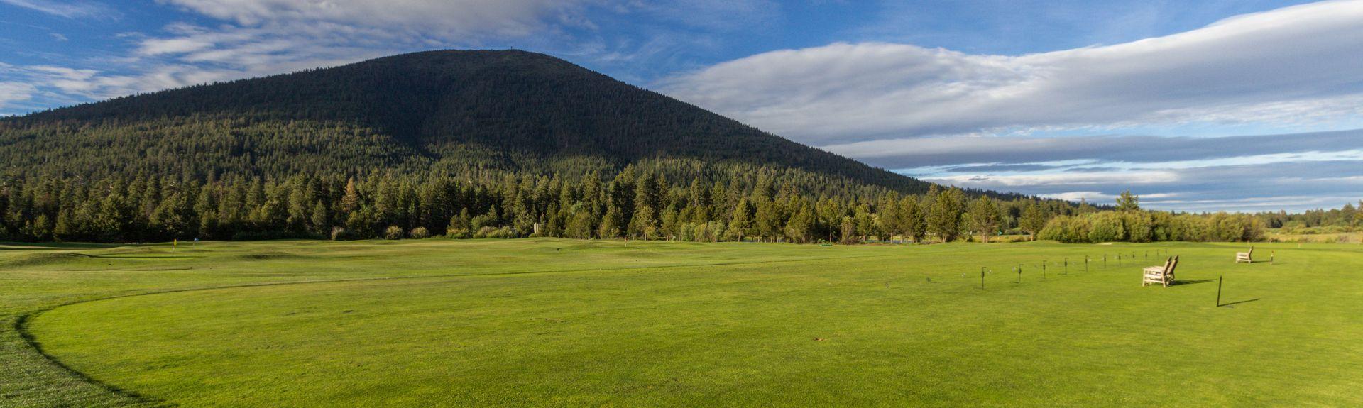 Parcours de golf d'Aspen Lakes, Sisters, Oregon, États-Unis d'Amérique