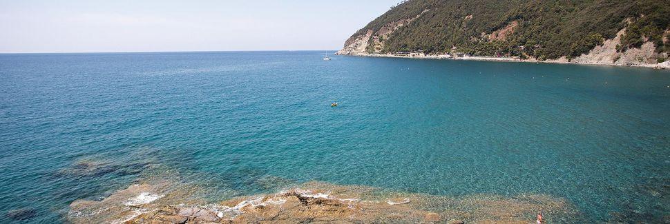 Strand von Bonassola, Bonassola, Ligurien, Italien